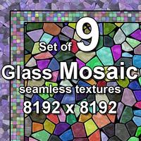 Glass Mosaic 9x Seamless Textures