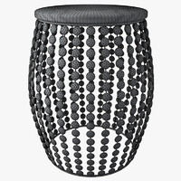 3d model aspire kisha beaded stool