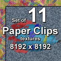 Paper Clips 11x Textures