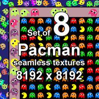 Pacman 8x Seamless Textures