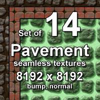 Pavement 14x Seamless Textures