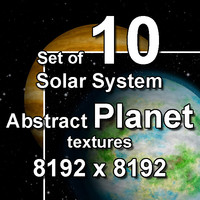Abstract Solar System Planet 10x Textures