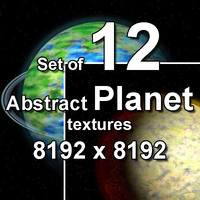 Abstract Planet 12x Textures