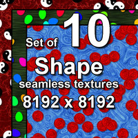 Shape 10x Seamless Textures, set #3