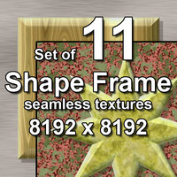 Shape Frame 11x Seamless Textures, set #1
