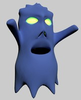 ghost nice character 3d max
