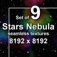 Stars Nebula 9x Seamless Textures