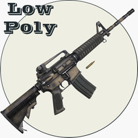 3d m4a1 polys model
