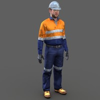 safety worker 3d model