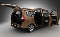 3d dacia lodgy