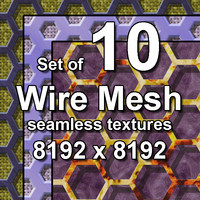 Wire Mesh 10x Seamless Textures, set #3