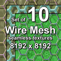 Wire Mesh 10x Seamless Textures, set #2