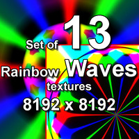 Rainbow Waves 13x Textures, set #3