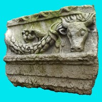 3ds max roman bas relief 1