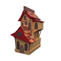 house cartoon toon 3d max