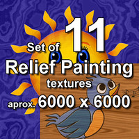 Relief Painting 11x Textures, set #4