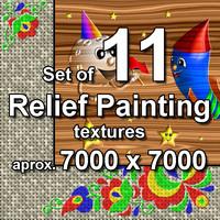 Relief Painting 11x Textures, set #3