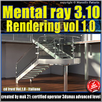 Mental Ray 3.10 In 3dsmax 2013 Vol.1 Rendering_cd front