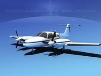 piper seminole pa-44-180t turbo 3d max
