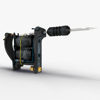 3d model of tattoo machine