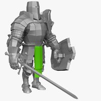 3d model base mesh knight series