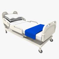 hospital bed 3d x