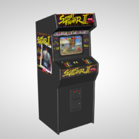 street arcade machine 3d model