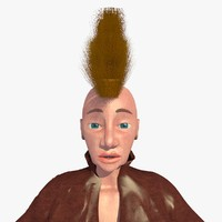 3d realistically mohican punk jill