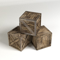 3d model of crates blender cycles