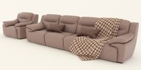 sofa and armchair dali premium calita italia