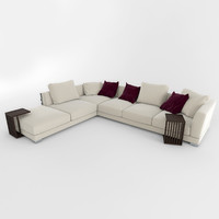 sofa cestone flexform 3d 3ds