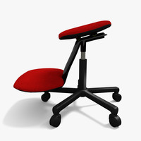 3ds max ergonomic stool