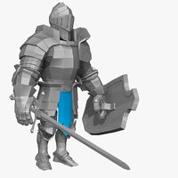 base mesh knight series 3d model