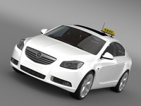 3d opel insignia taxi