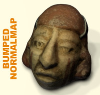 face archaeological mud 3d model