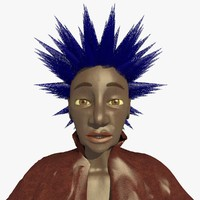punk helen female character c4d