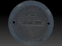 scan manhole cover 3d obj