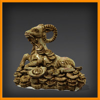 sculpture goat statue 3d model