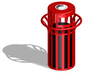 park trash bin 3ds