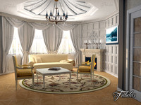 3d model of living room