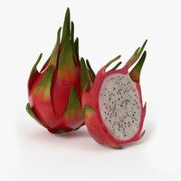 3ds max realistic dragonfruit real fruit