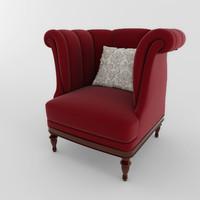 chair classik 01 3d model