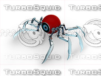 3d eyeball robot spider model
