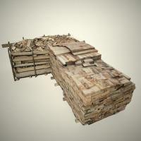 3d model wood stack