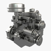 3d model engine modelled