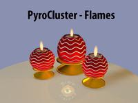 flames candles 3d model