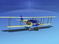 3d model cockpit curtiss jenny