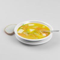 soup dish 3d model