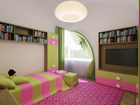 3d interior light