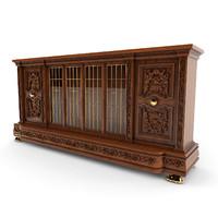 3d model of chest antique classic 01